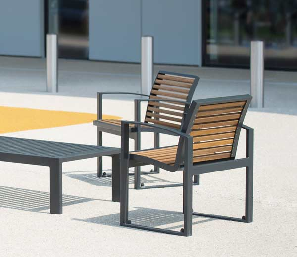 Area - Chaise et fauteuil - Newport bois